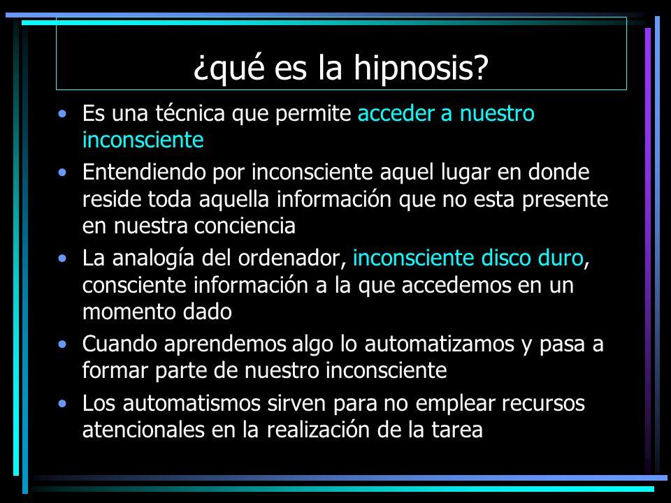 ¿qué es la hipnosis.