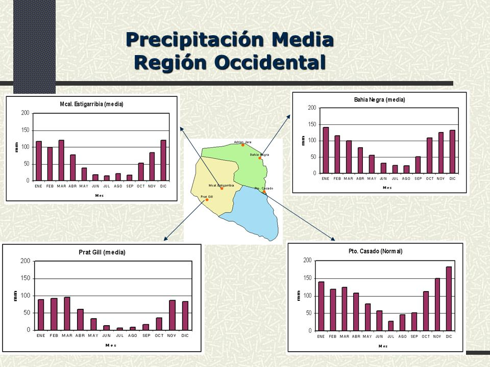 Precipitación Media Región Occidental