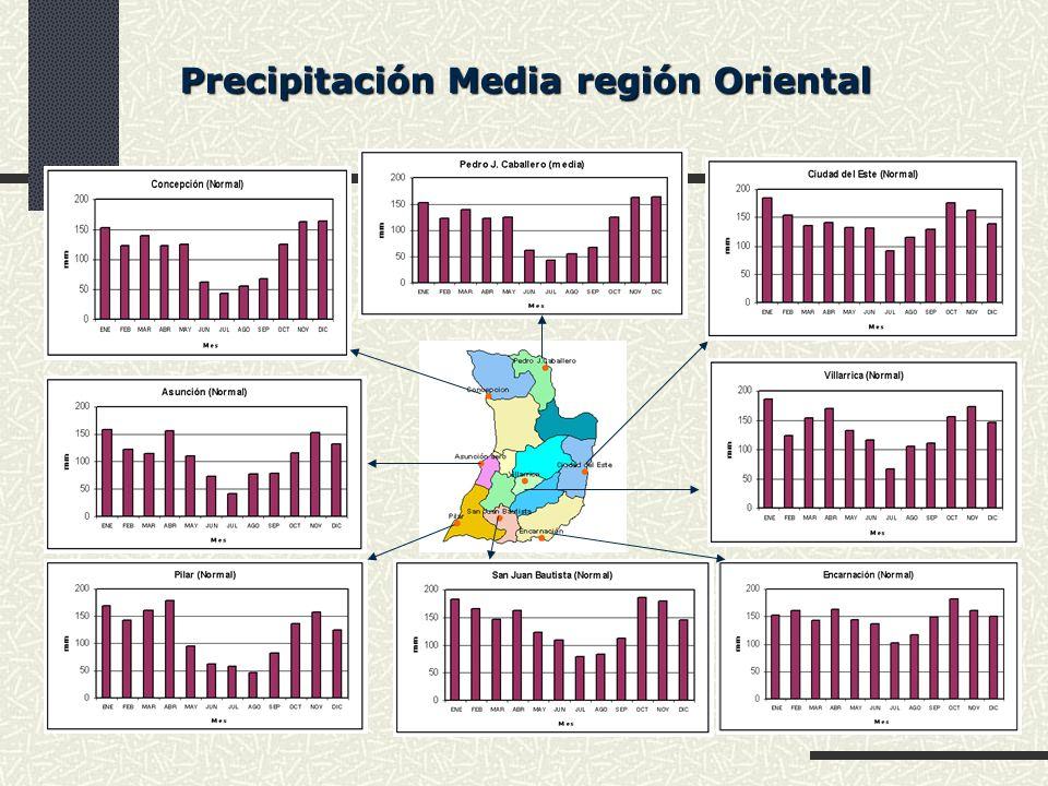Precipitación Media región Oriental