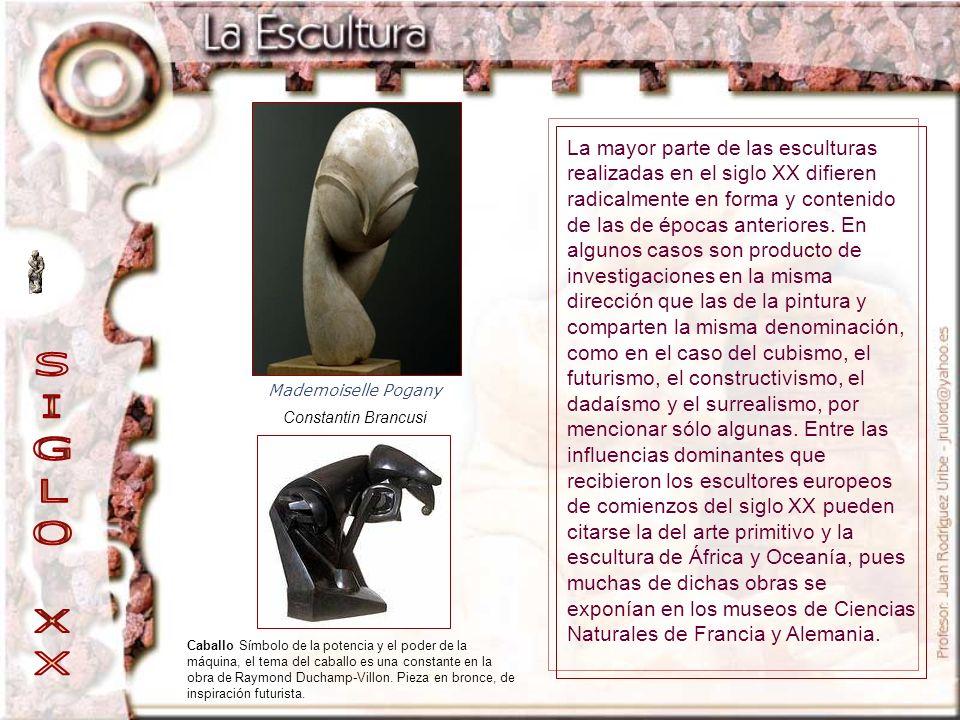 La mayor parte de las esculturas realizadas en el siglo XX difieren radicalmente en forma y contenido de las de épocas anteriores. En algunos casos so