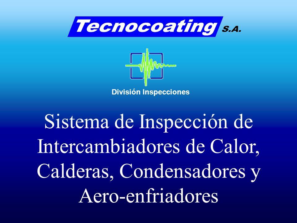División Inspecciones Tipos de fallas comúnmente detectadas por el sistema de RFT en tubos Ferromagnéticos Corrosión generalizada Corrosión generalizada junto con pitting aislado Pitting y fallas puntuales aisladas