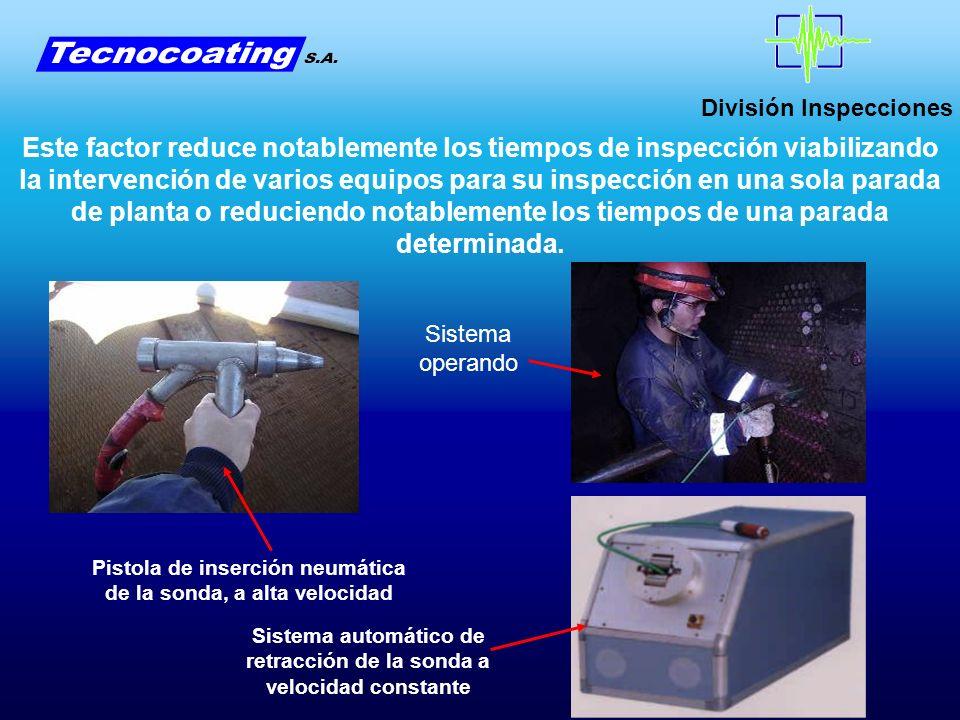 División Inspecciones Este factor reduce notablemente los tiempos de inspección viabilizando la intervención de varios equipos para su inspección en u