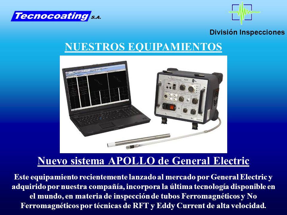 División Inspecciones NUESTROS EQUIPAMIENTOS Nuevo sistema APOLLO de General Electric Este equipamiento recientemente lanzado al mercado por General E