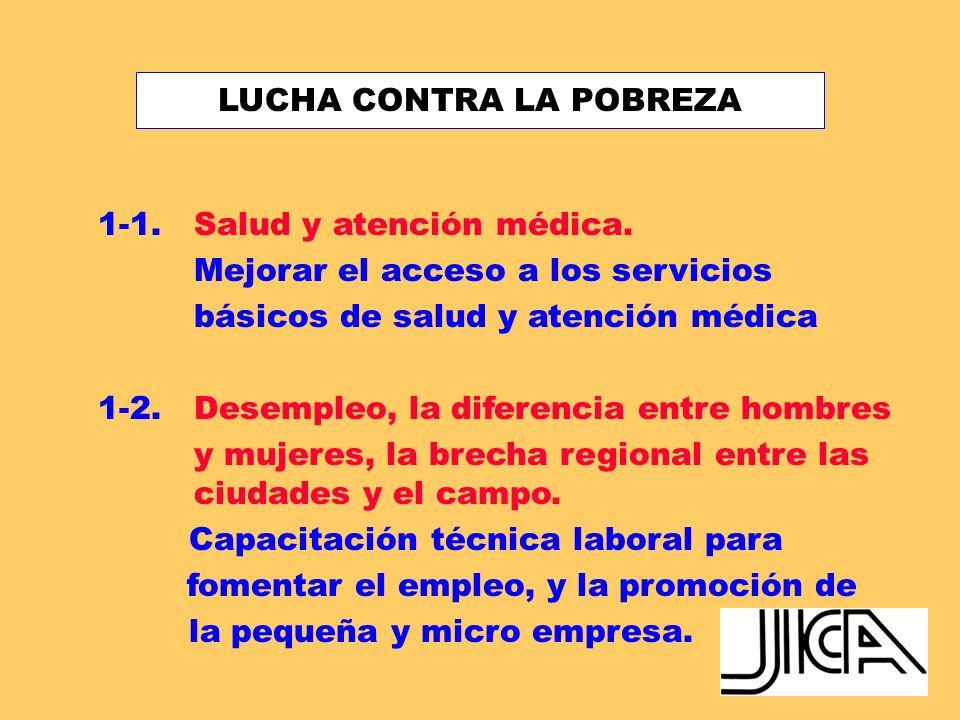 ÁREAS PRIORITARIAS DE COOPERACIÓN HACIA EL PERÚ 1.