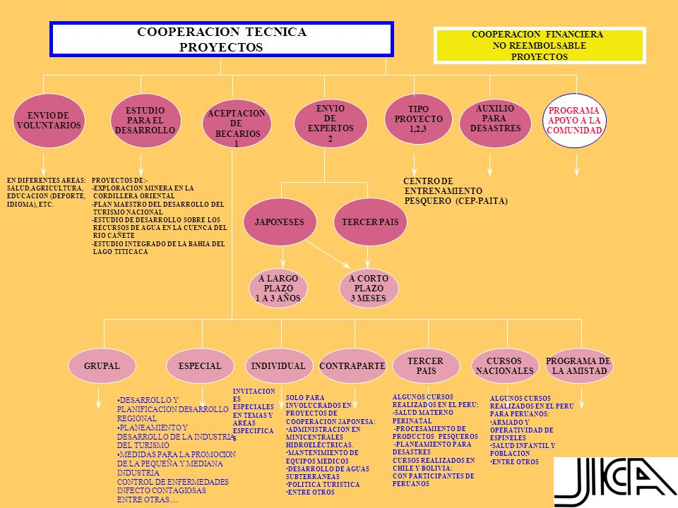 CONSIDERACIÓN PARA LA FORMULACIÓN Y EJECUCIÓN DE LOS PROYECTOS 1.Coherencia con los planes y políticas de desarrollo del Perú 2.Medidas de seguridad 3.Transfondo social 4.Articulación con la comunidad de descendientes de japoneses