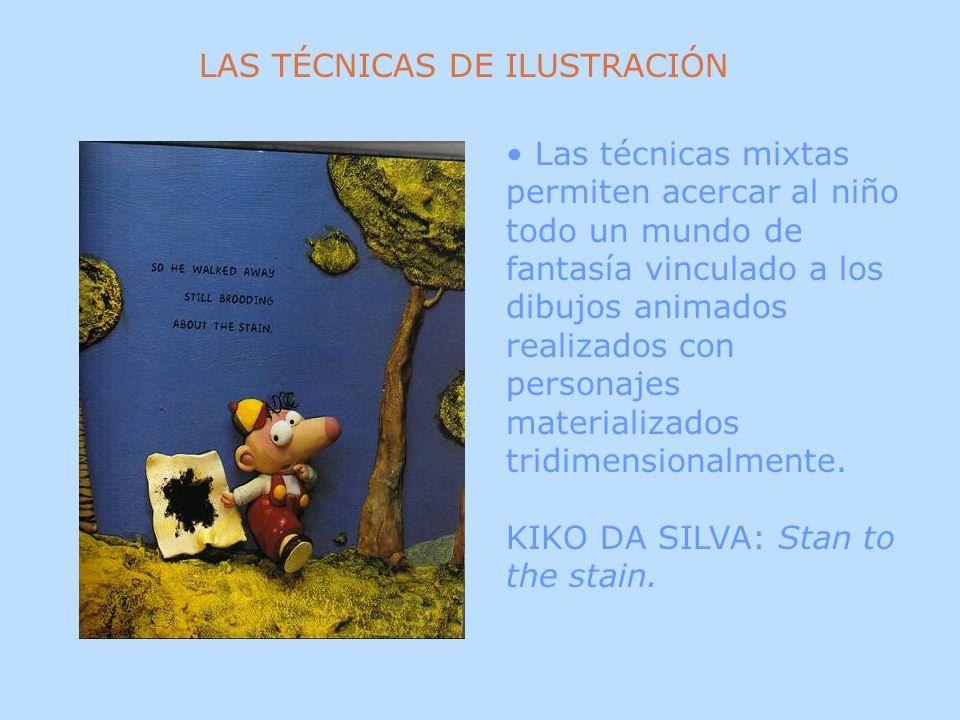 Las técnicas mixtas permiten acercar al niño todo un mundo de fantasía vinculado a los dibujos animados realizados con personajes materializados tridi