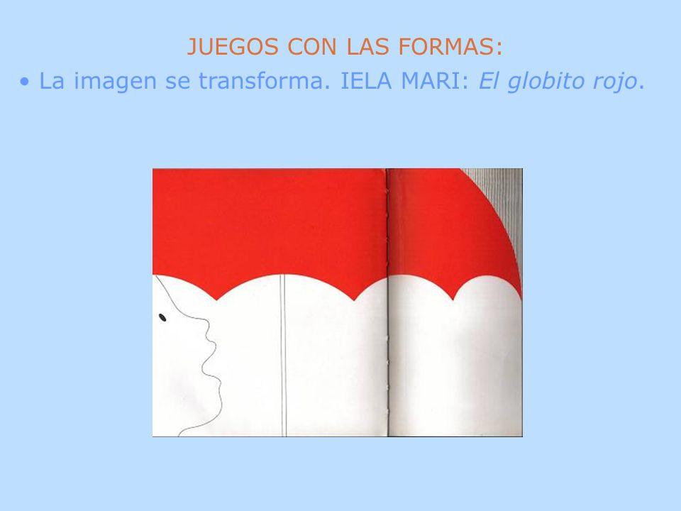 JUEGOS CON LAS FORMAS: La imagen se transforma. IELA MARI: El globito rojo.