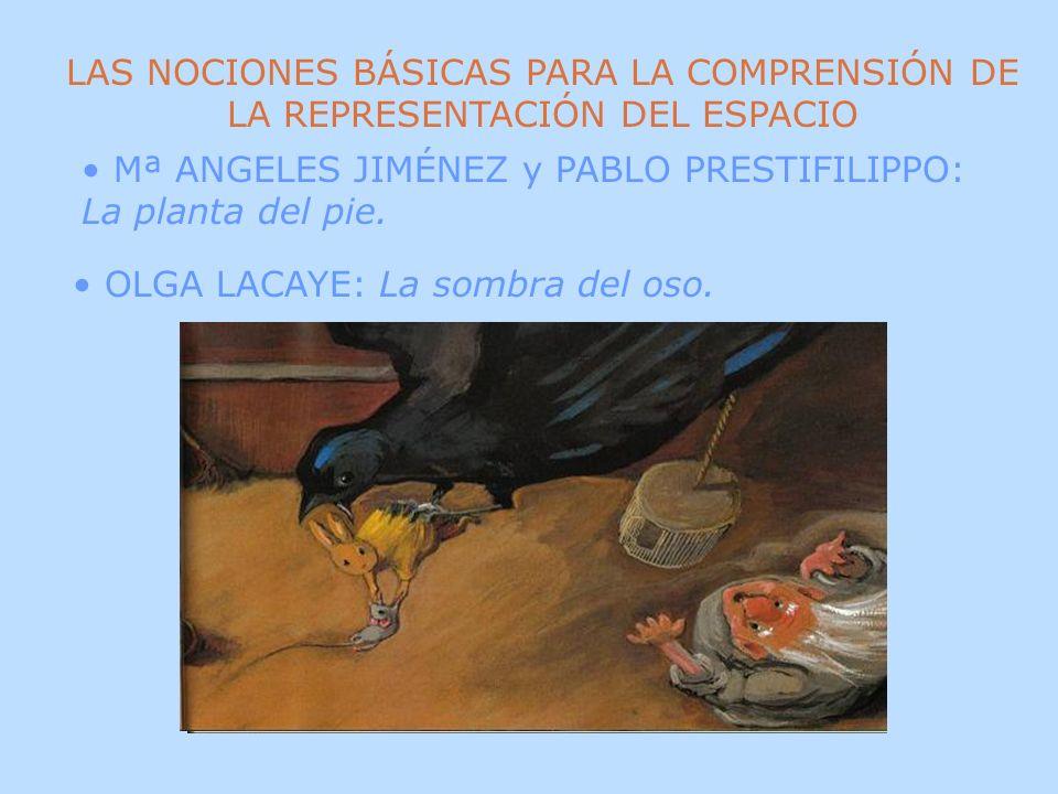 OLGA LACAYE: La sombra del oso. LAS NOCIONES BÁSICAS PARA LA COMPRENSIÓN DE LA REPRESENTACIÓN DEL ESPACIO Mª ANGELES JIMÉNEZ y PABLO PRESTIFILIPPO: La