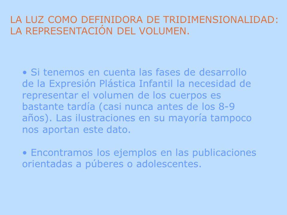 LA LUZ COMO DEFINIDORA DE TRIDIMENSIONALIDAD: LA REPRESENTACIÓN DEL VOLUMEN.