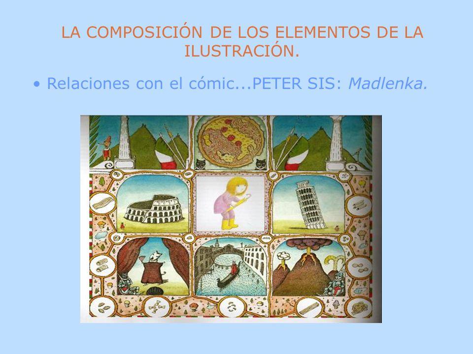 LA COMPOSICIÓN DE LOS ELEMENTOS DE LA ILUSTRACIÓN. Relaciones con el cómic...PETER SIS: Madlenka.