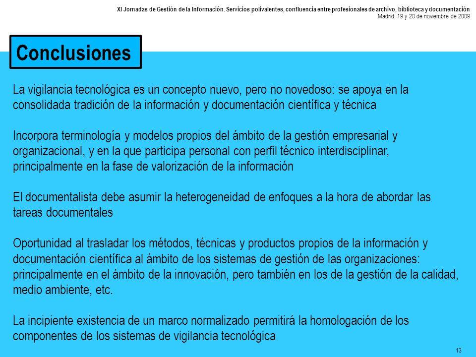 13 XI Jornadas de Gestión de la Información.
