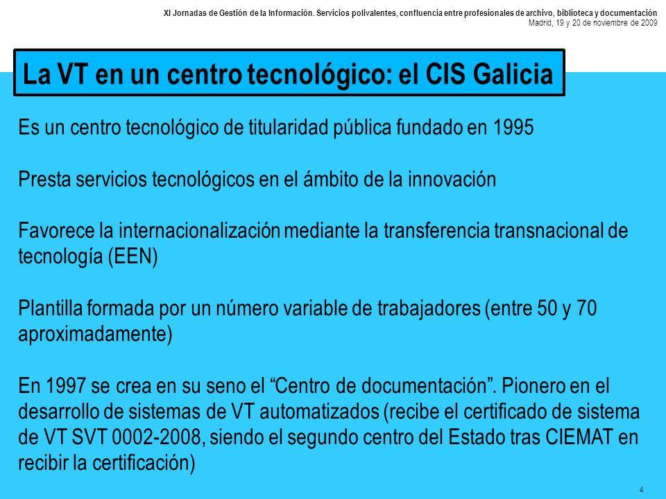 15 XI Jornadas de Gestión de la Información.