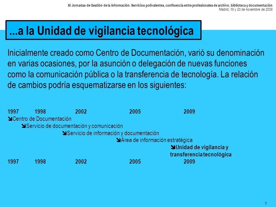 6 XI Jornadas de Gestión de la Información.