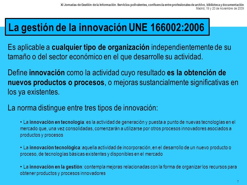 8 XI Jornadas de Gestión de la Información.