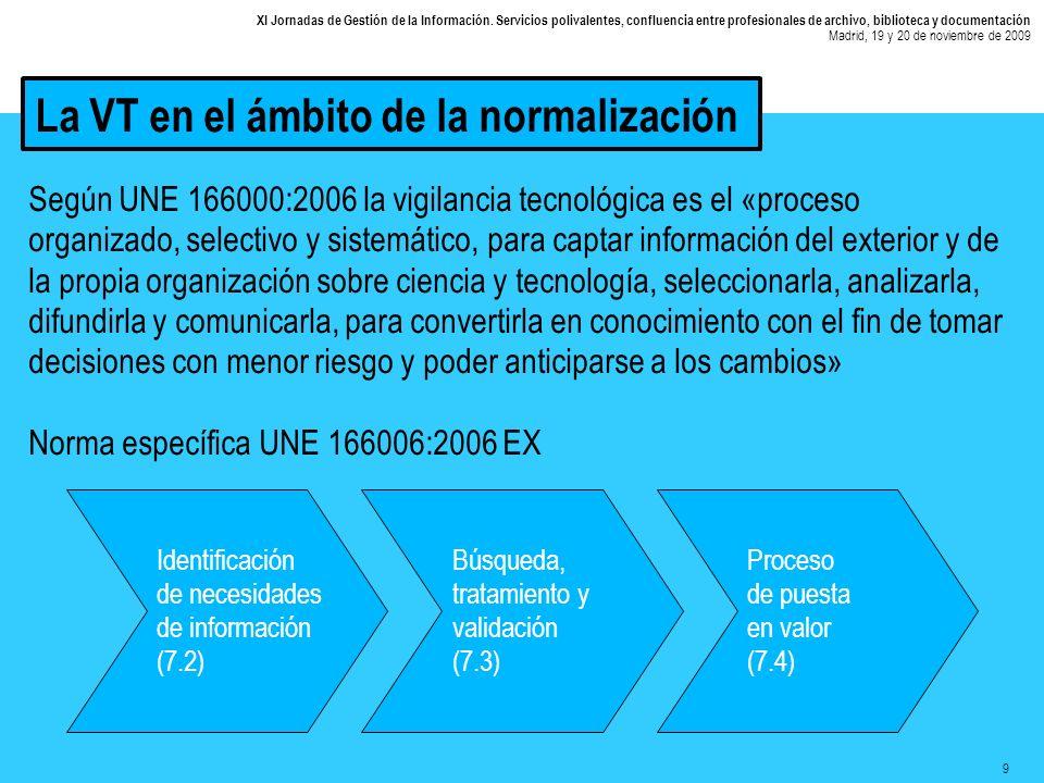 10 XI Jornadas de Gestión de la Información.