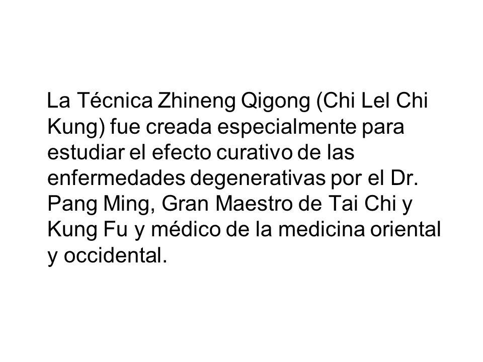 La Técnica Zhineng Qigong (Chi Lel Chi Kung) fue creada especialmente para estudiar el efecto curativo de las enfermedades degenerativas por el Dr. Pa