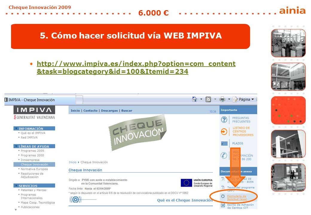 9 Cheque Innovación 2009 6.000 Que no se te pase.Innova-T.