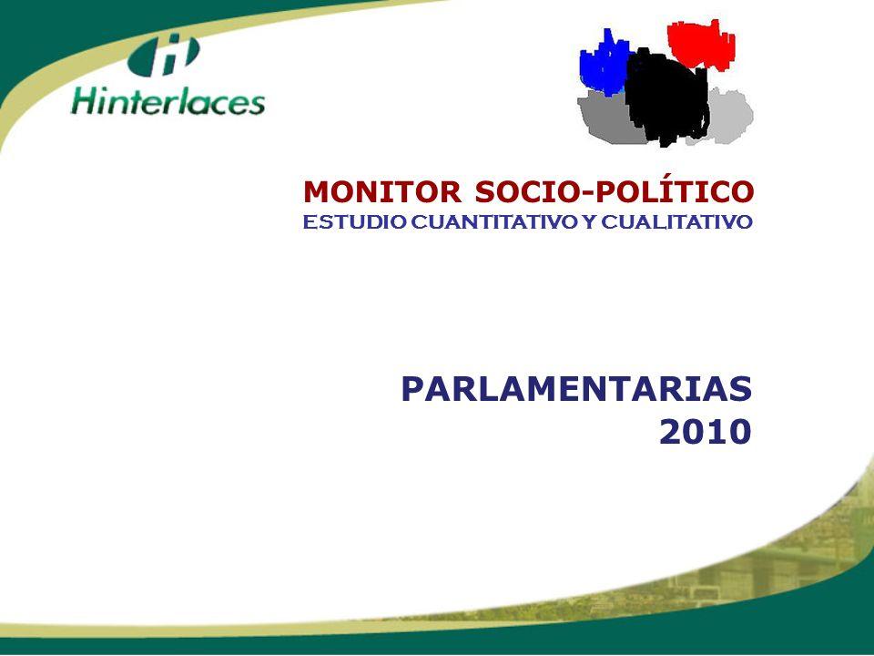 PARLAMENTARIAS 2010 ESTUDIO CUANTITATIVO Y CUALITATIVO MONITOR SOCIO-POLÍTICO