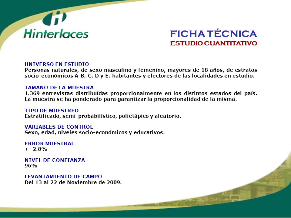 PROYECCIONES 2010 ESTUDIO CUANTITATIVO Y CUALITATIVO MONITOR SOCIO-POLÍTICO