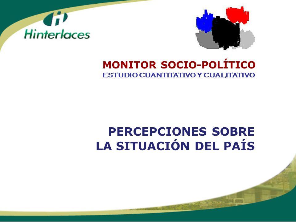 PERCEPCIONES SOBRE LA SITUACIÓN DEL PAÍS ESTUDIO CUANTITATIVO Y CUALITATIVO MONITOR SOCIO-POLÍTICO