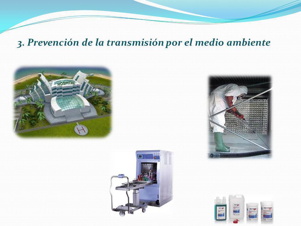 3. Prevención de la transmisión por el medio ambiente