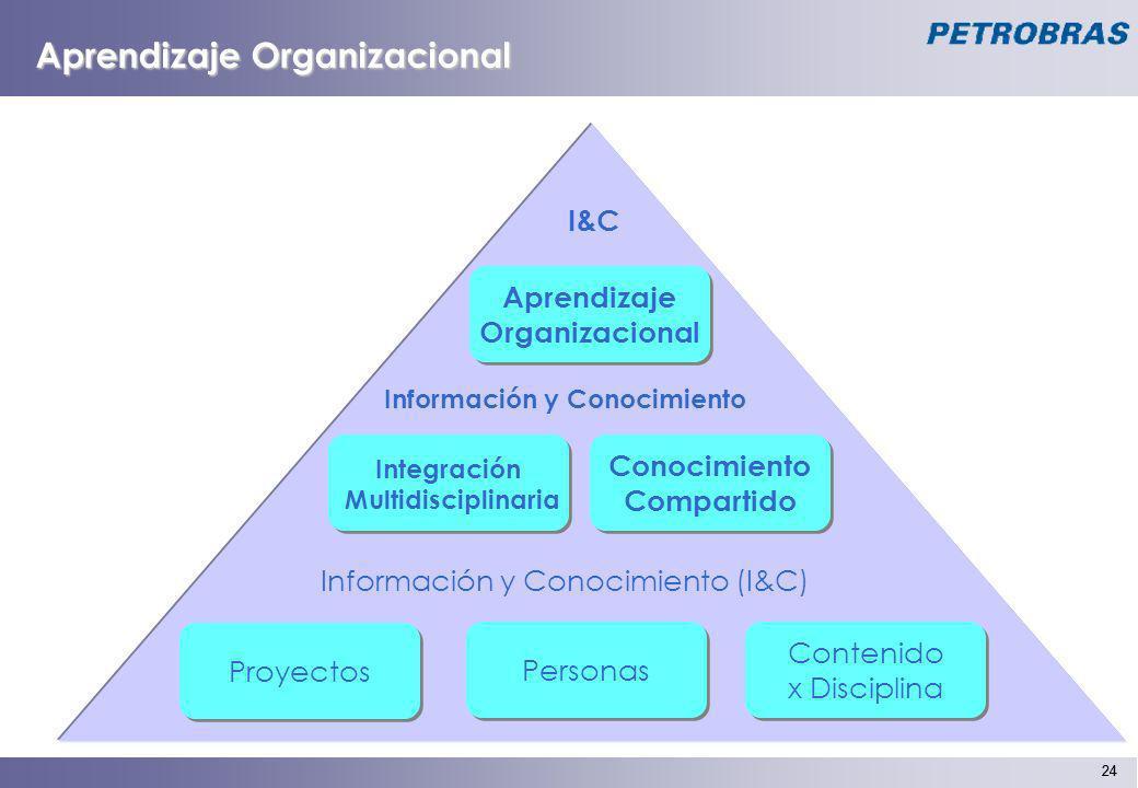 24 Integración Multidisciplinaria Integración Multidisciplinaria Conocimiento Compartido Conocimiento Compartido Contenido x Disciplina Contenido x Di