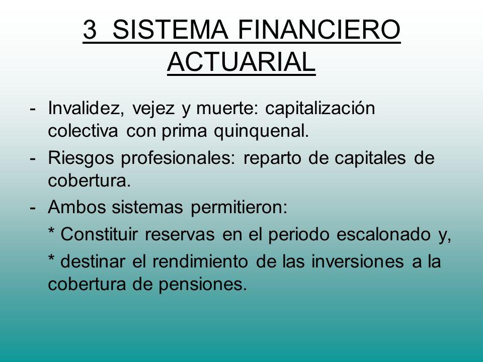 4.- TASA TECNICA DE INTERES ACTUARIAL - Para la valoración de activos y pasivos actuariales, utilizada en el sistema boliviano, al 3%.
