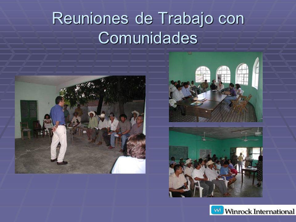 Reuniones de Trabajo con Comunidades