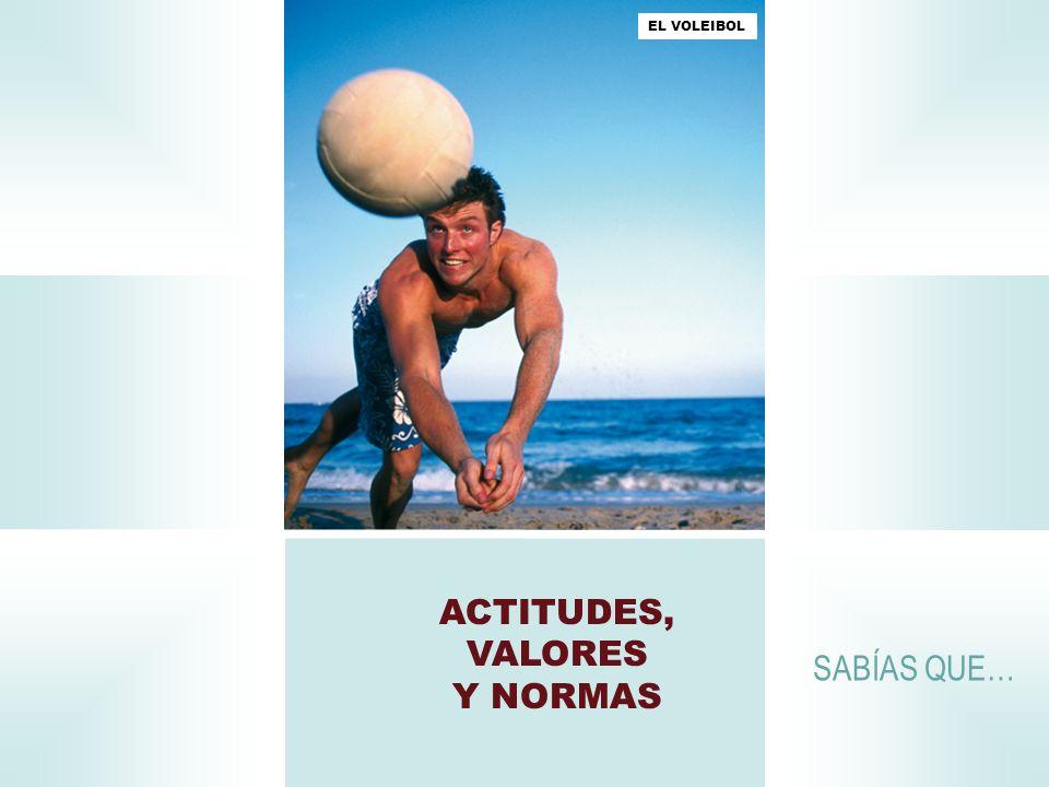 ACTITUDES, VALORES Y NORMAS SABÍAS QUE… EL VOLEIBOL