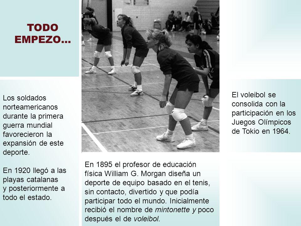 TODO EMPEZO… En 1895 el profesor de educación física William G. Morgan diseña un deporte de equipo basado en el tenis, sin contacto, divertido y que p