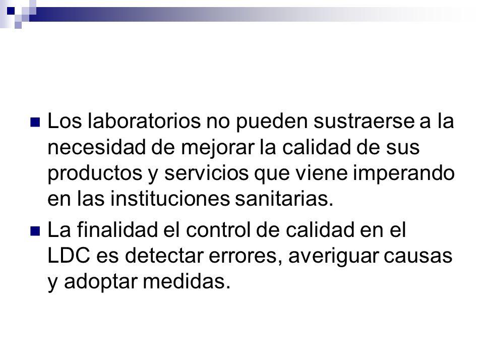 Los laboratorios no pueden sustraerse a la necesidad de mejorar la calidad de sus productos y servicios que viene imperando en las instituciones sanit