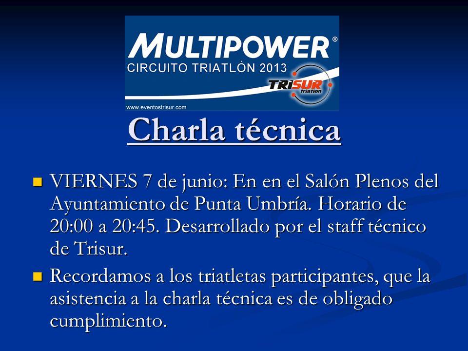 Charla técnica Charla técnica VIERNES 7 de junio: En en el Salón Plenos del Ayuntamiento de Punta Umbría.