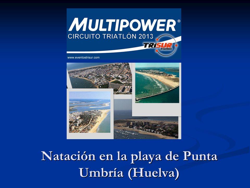 Natación en la playa de Punta Umbría (Huelva)