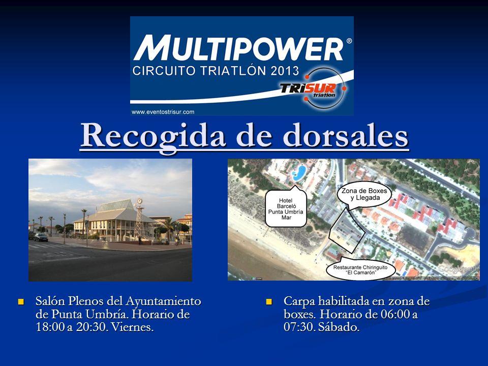 Recogida de dorsales Recogida de dorsales Salón Plenos del Ayuntamiento de Punta Umbría.