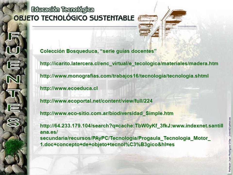 Colección Bosqueduca, serie guías docentes http://icarito.latercera.cl/enc_virtual/e_tecologica/materiales/madera.htmhttp://www.monografias.com/trabaj