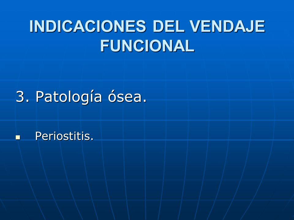 INDICACIONES DEL VENDAJE FUNCIONAL 3. Patología ósea. Periostitis. Periostitis.