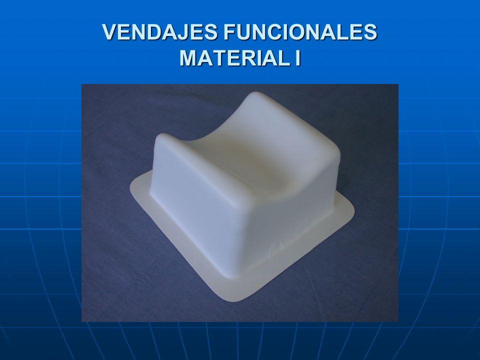 VENDAJES FUNCIONALES MATERIAL I