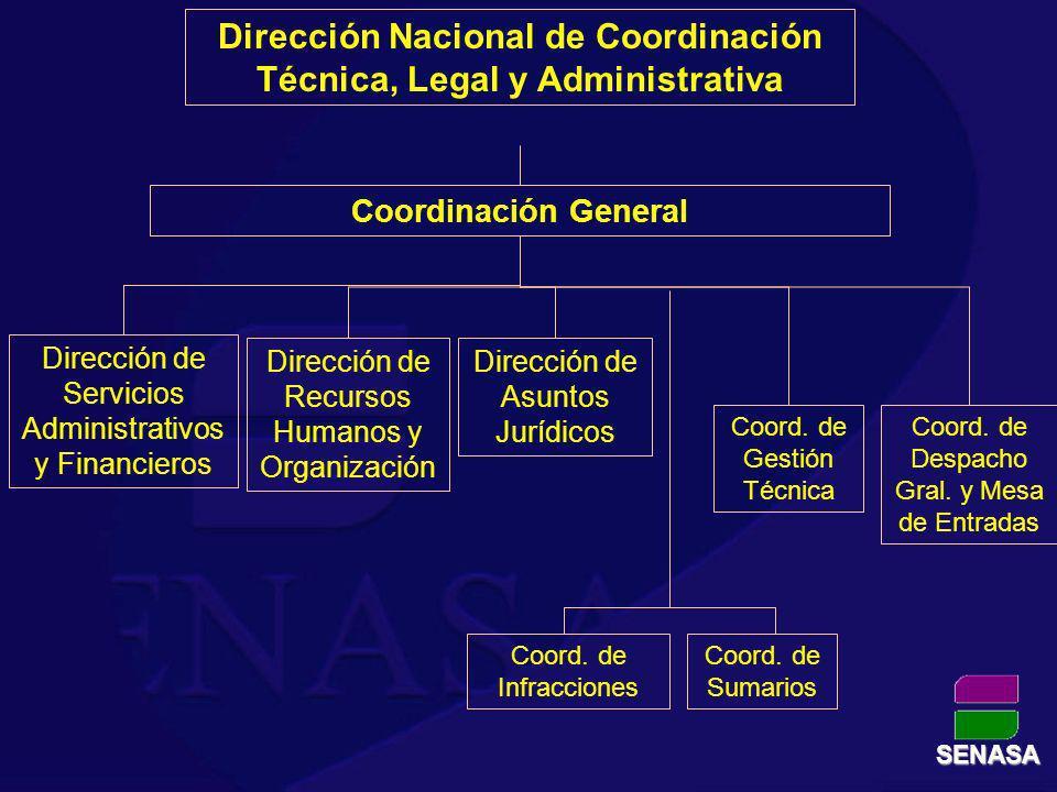 Dirección Nacional de Coordinación Técnica, Legal y Administrativa Dirección de Asuntos Jurídicos Dirección de Servicios Administrativos y Financieros