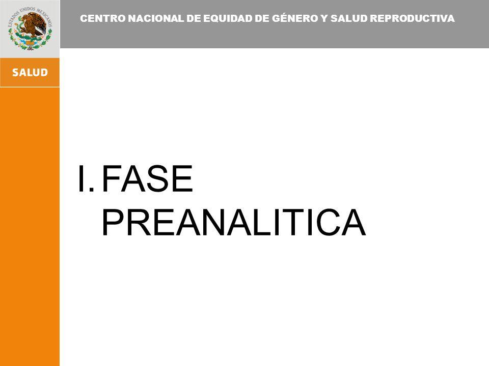 CENTRO NACIONAL DE EQUIDAD DE GÉNERO Y SALUD REPRODUCTIVA I.FASE POSTANALITICA