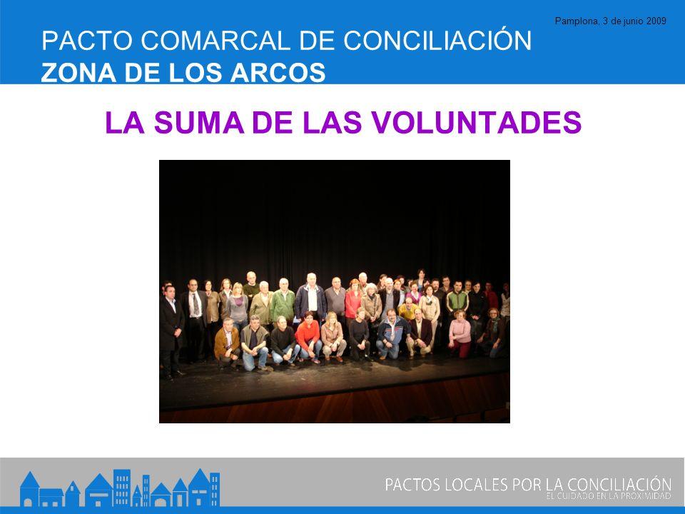 Pamplona, 3 de junio 2009 PACTO COMARCAL DE CONCILIACIÓN ZONA DE LOS ARCOS LA SUMA DE LAS VOLUNTADES