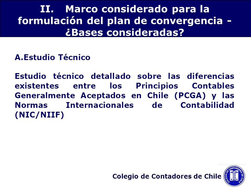 Colegio de Contadores de Chile A.Estudio Técnico Estudio técnico detallado sobre las diferencias existentes entre los Principios Contables Generalment