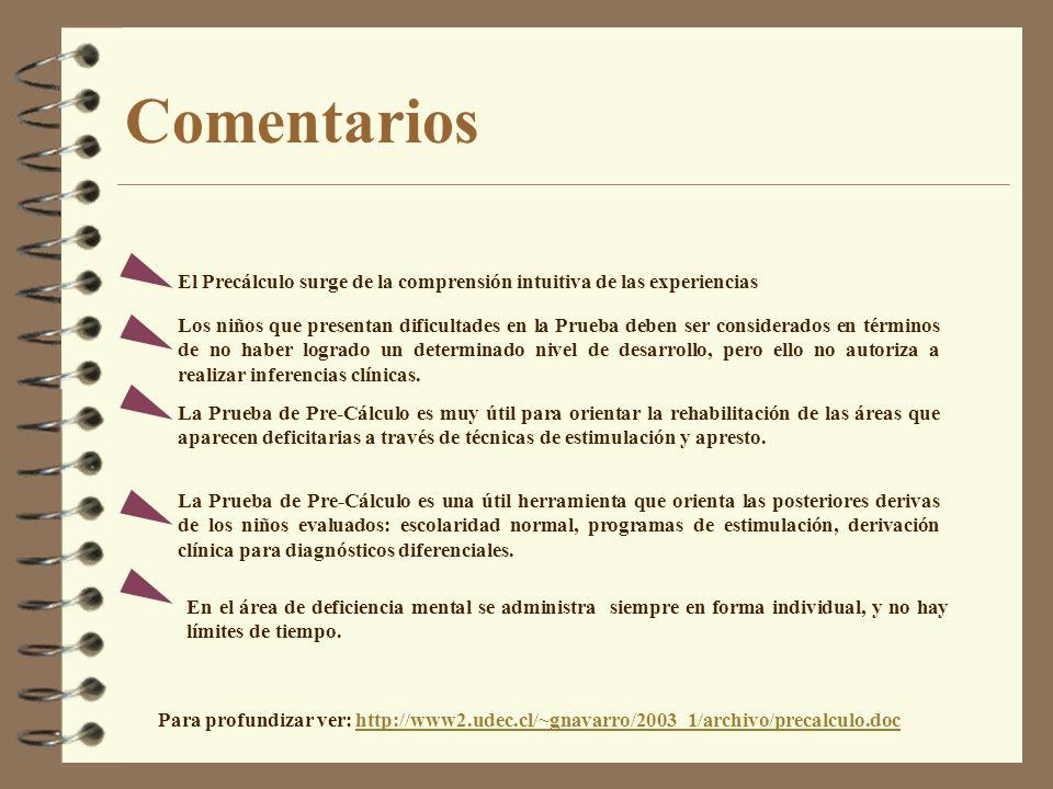 Comentarios Para profundizar ver: http://www2.udec.cl/~gnavarro/2003_1/archivo/precalculo.dochttp://www2.udec.cl/~gnavarro/2003_1/archivo/precalculo.d