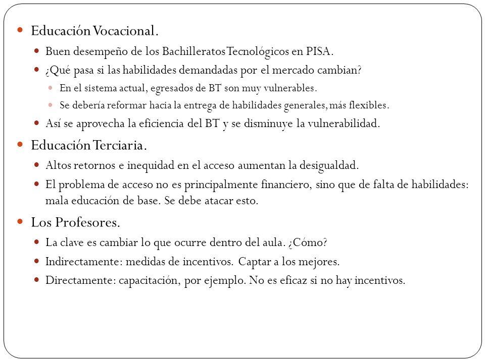 Educación Vocacional. Buen desempeño de los Bachilleratos Tecnológicos en PISA.