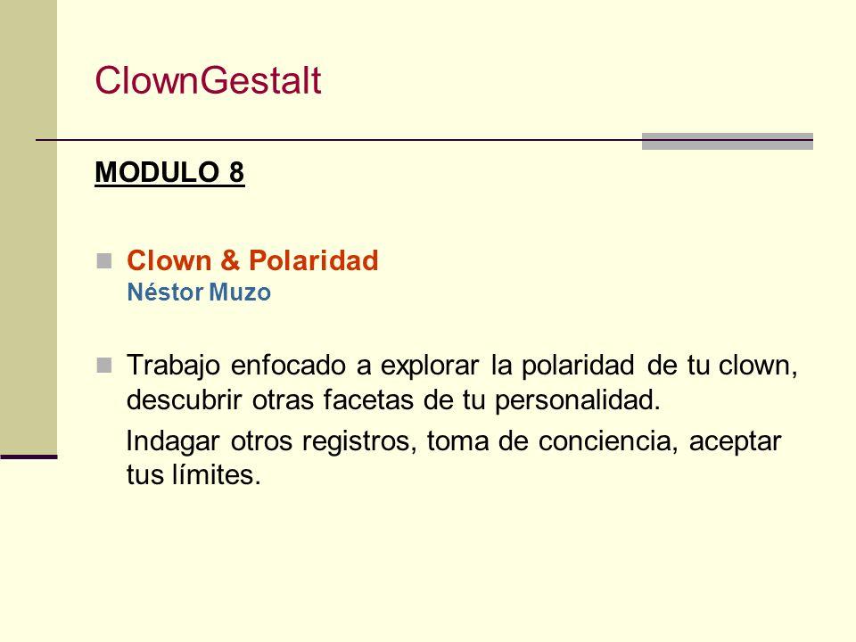 ClownGestalt MODULO 7 Clown & Sombra I Alain Vigneau Reconocer, celebrar e integrar mis sombras a través del juego clown, y establecer una relación cr