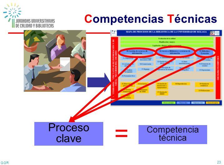 GGR 23 Proceso clave = Competencia técnica Competencias Técnicas