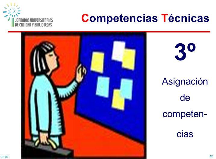 GGR 40 3º Asignación de competen- cias Competencias Técnicas