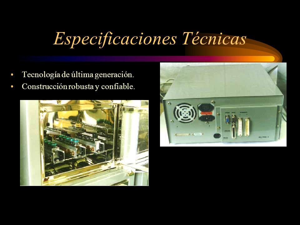 Especificaciones Técnicas Tecnología de última generación. Construcción robusta y confiable.