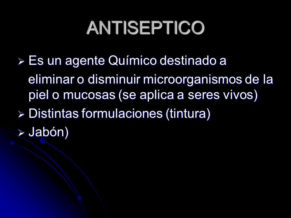 USO DE ANTISÉPTICOS