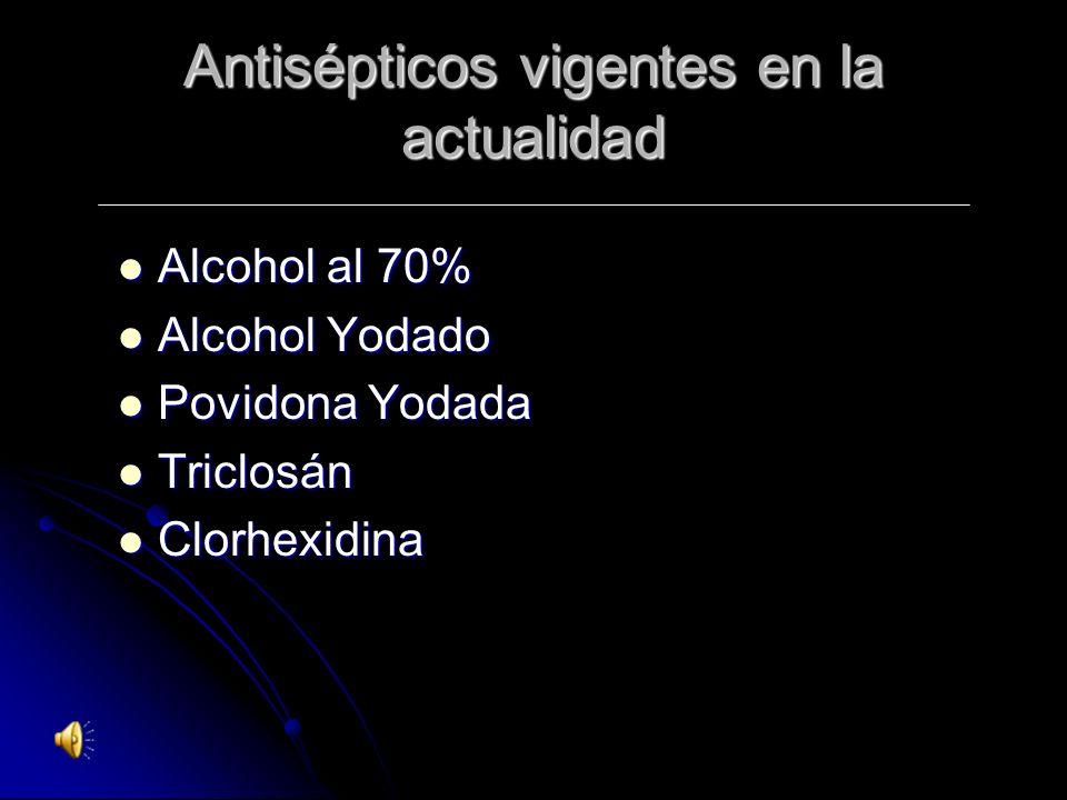 Generalidades de los Antisépticos El uso de Antisépticos reduce la colonización Microbiana más que el agua y el Jabón. Su recomendación sobre uso y pr