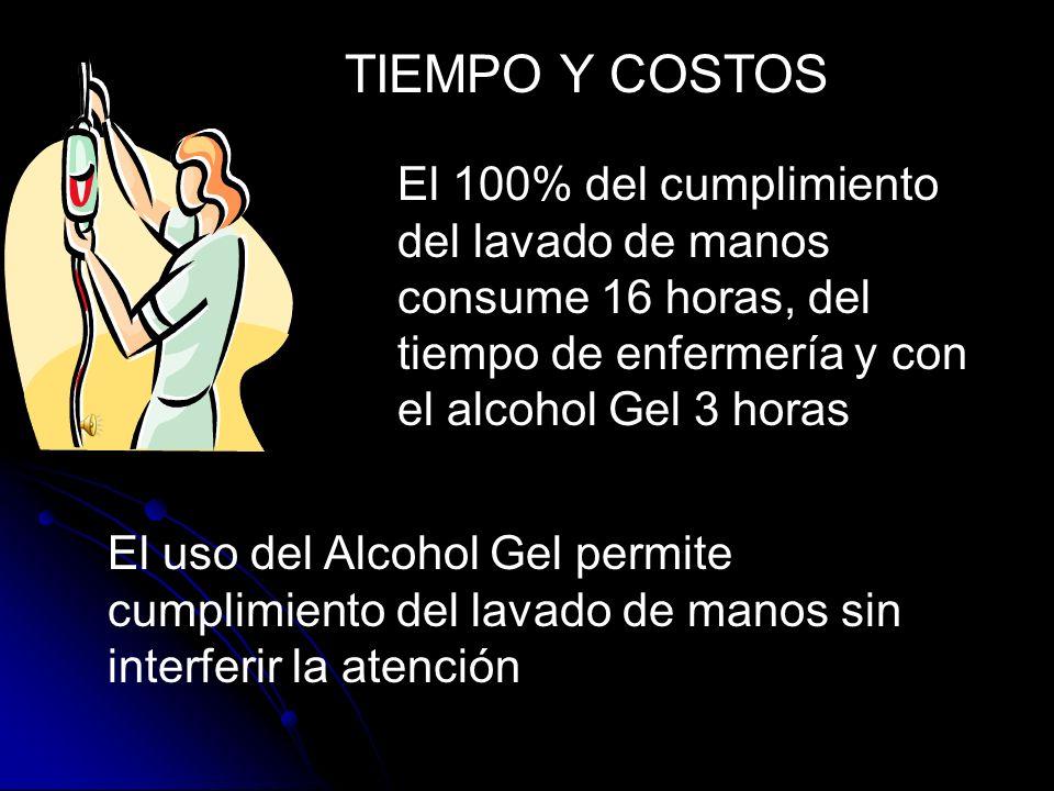 USO DEL ALCOHOL GEL ESTUDIOS COMPARATIVOS ENTRE EL LAVADO CONVENCIONAL Y EL USO DEL ALCOHOL GEL MUESTRAN IGUAL EFICACIA USO DEL ALCOHOL GEL REDUCE EL